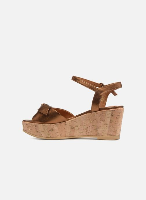 Sandales et nu-pieds Schmoove Woman Ariel Ankle Metal Milled Or et bronze vue face