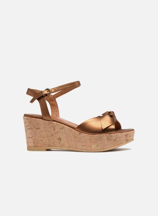 Sandales et nu-pieds Schmoove Woman Ariel Ankle Metal Milled Or et bronze vue derrière