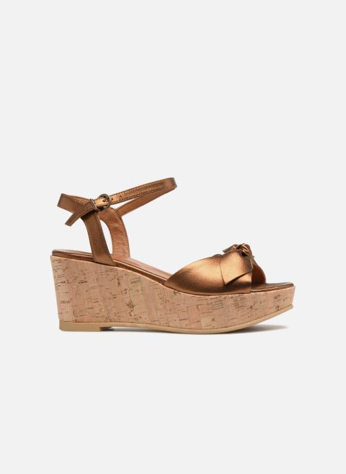Sandals Schmoove Woman Ariel Ankle Metal Milled Bronze and Gold back view