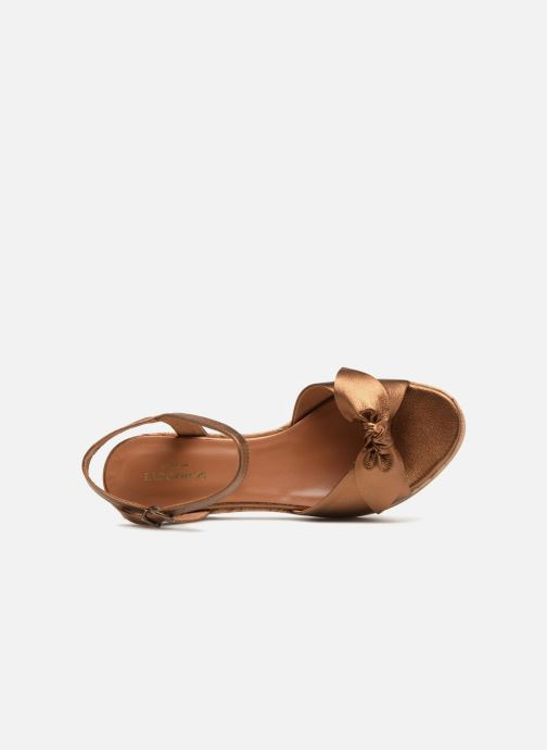 Sandals Schmoove Woman Ariel Ankle Metal Milled Bronze and Gold view from the left