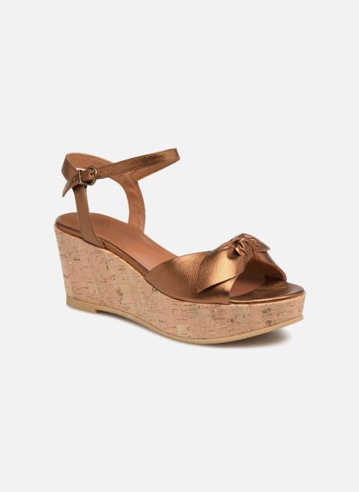 Sandales et nu-pieds Schmoove Woman Ariel Ankle Metal Milled Or et bronze vue détail/paire