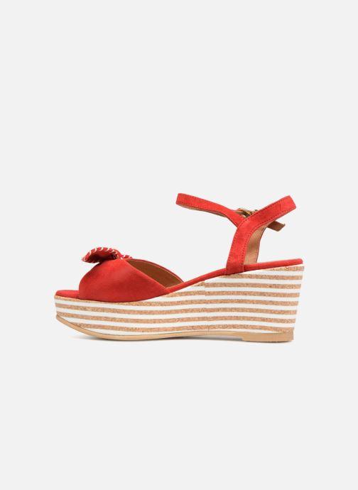 Sandales et nu-pieds Schmoove Woman Ariel Ankle Metal Milled Rouge vue face