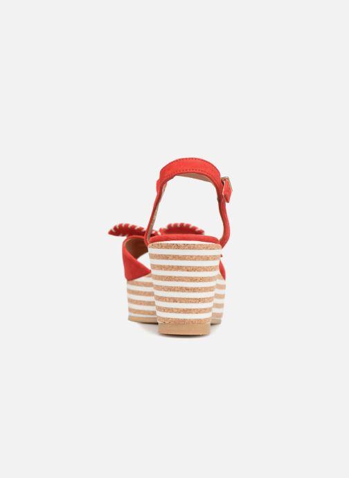 Sandales et nu-pieds Schmoove Woman Ariel Ankle Metal Milled Rouge vue droite