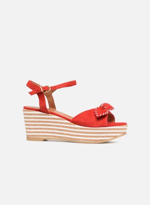 Sandales et nu-pieds Schmoove Woman Ariel Ankle Metal Milled Rouge vue derrière