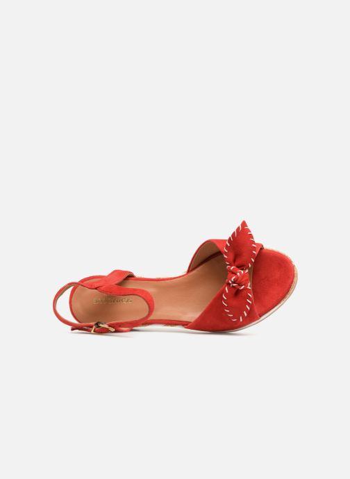 Sandales et nu-pieds Schmoove Woman Ariel Ankle Metal Milled Rouge vue gauche