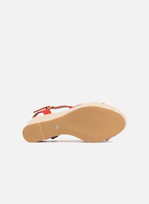 Sandales et nu-pieds Schmoove Woman Ariel Ankle Metal Milled Rouge vue haut
