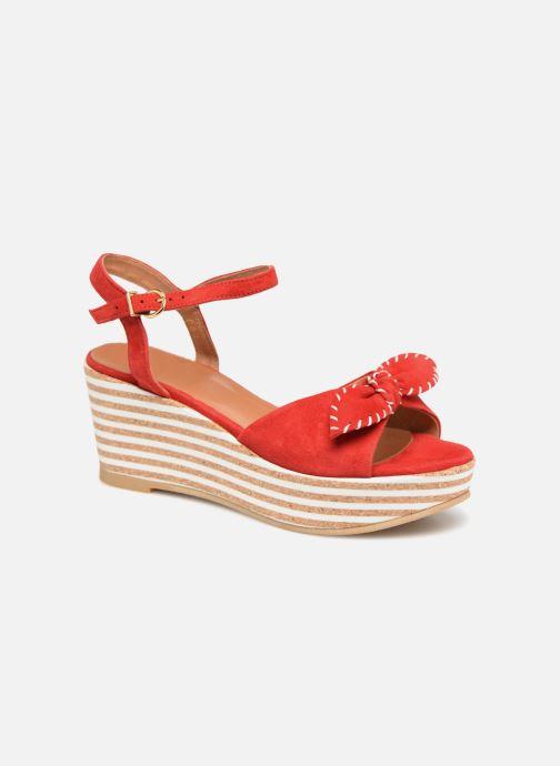 Sandales et nu-pieds Schmoove Woman Ariel Ankle Metal Milled Rouge vue détail/paire