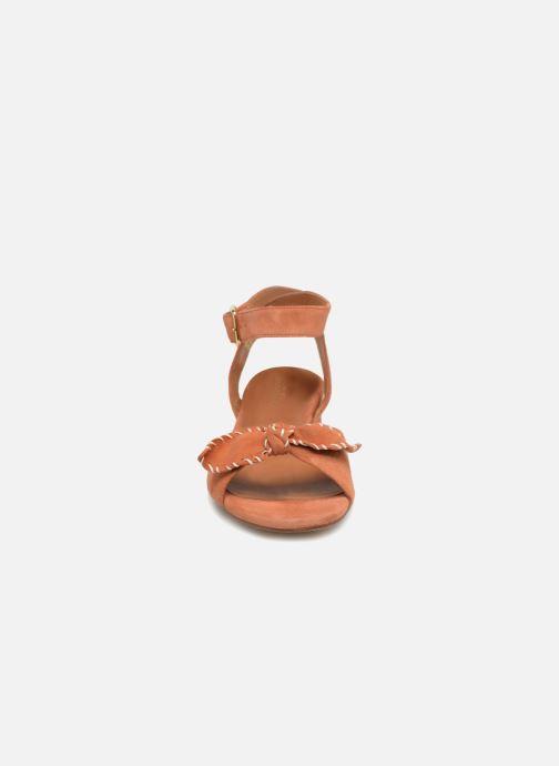 Sandales et nu-pieds Schmoove Woman Vega Ankle Kid Suede Orange vue portées chaussures