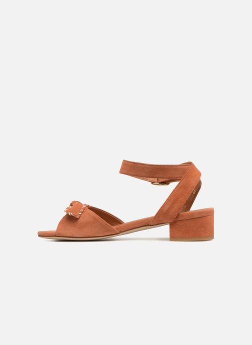 Sandals Schmoove Woman Vega Ankle Kid Suede Orange front view