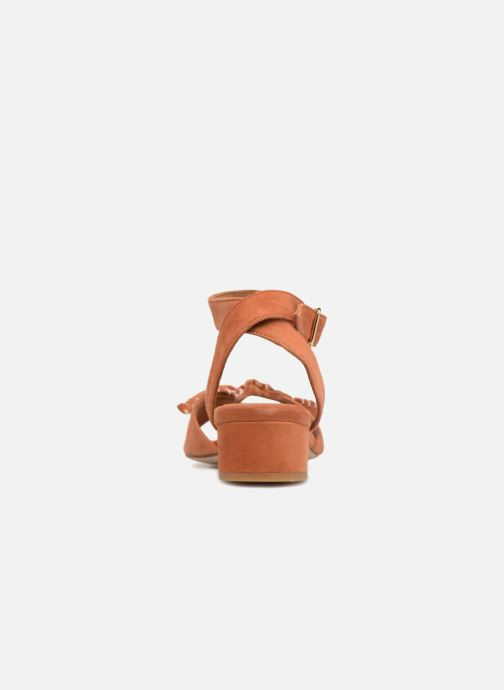 Sandals Schmoove Woman Vega Ankle Kid Suede Orange view from the right