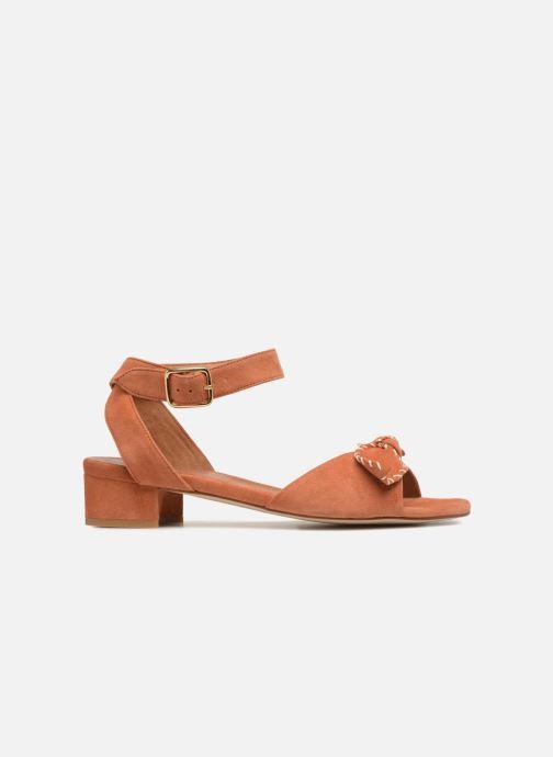 Sandales et nu-pieds Schmoove Woman Vega Ankle Kid Suede Orange vue derrière