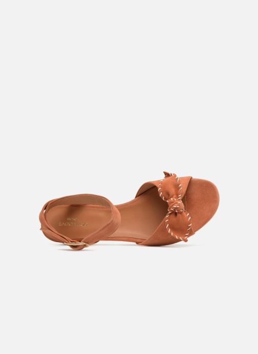 Sandals Schmoove Woman Vega Ankle Kid Suede Orange view from the left