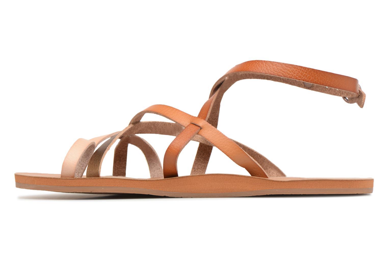 Sandales et nu-pieds Roxy Julia Marron vue face