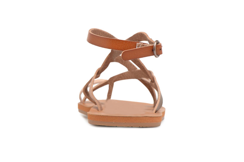 Sandales et nu-pieds Roxy Julia Marron vue droite