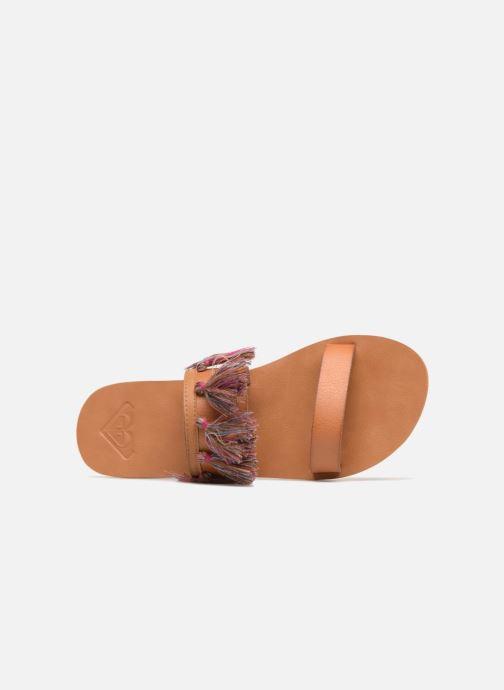 Sandali e scarpe aperte Roxy Izzy Marrone immagine sinistra
