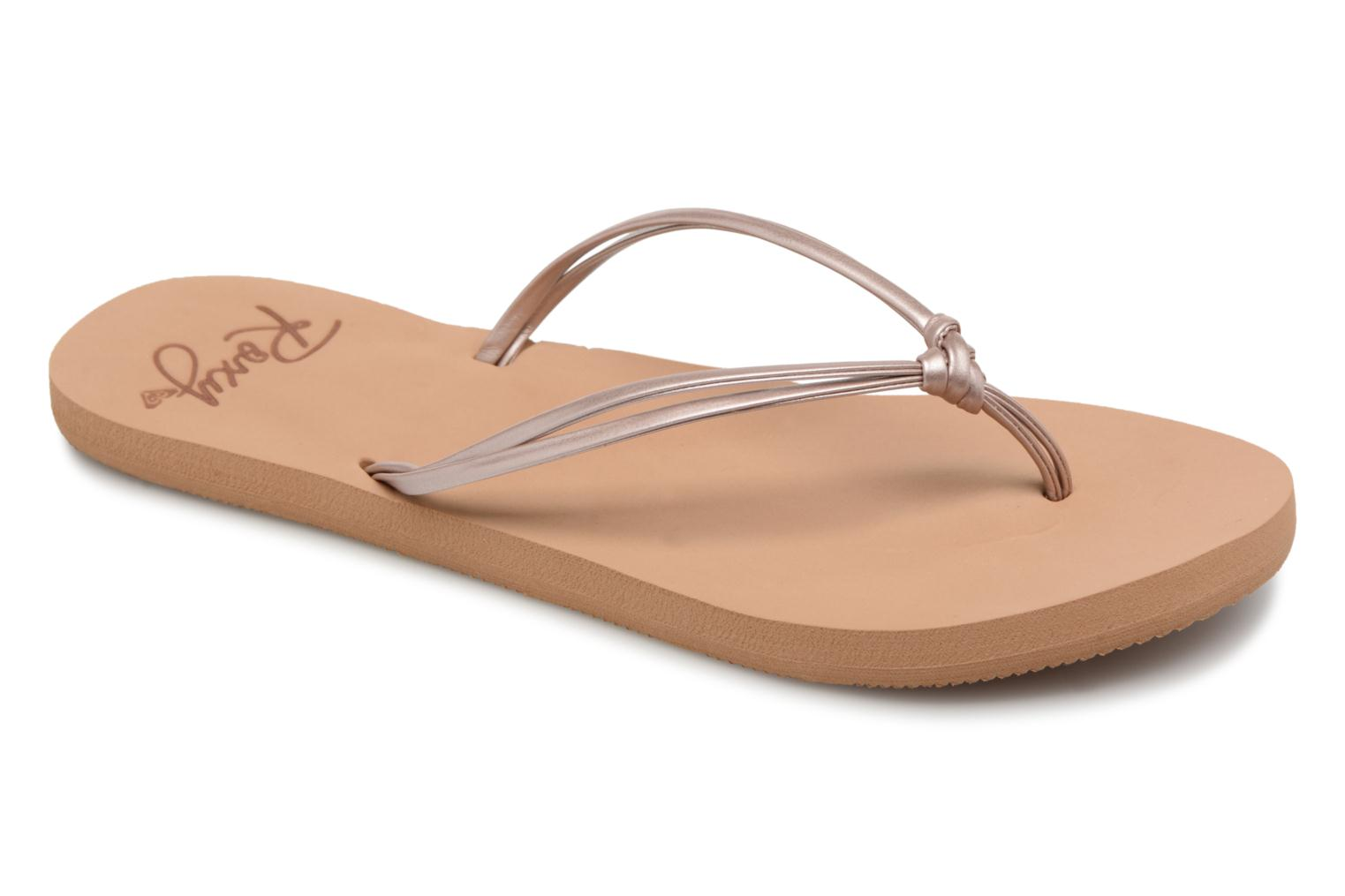 Tongs Roxy Lahaina III Rose vue détail/paire
