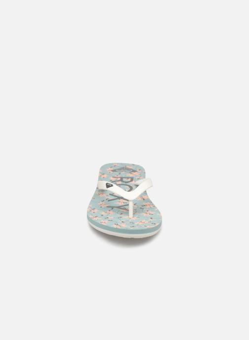 Tongs Roxy Tahiti VI Bleu vue portées chaussures