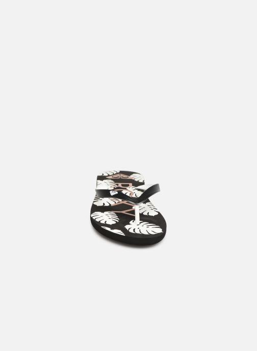Tongs Roxy Tahiti VI Noir vue portées chaussures