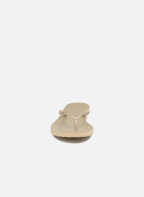 Zehensandalen Roxy Viva IV gold/bronze schuhe getragen
