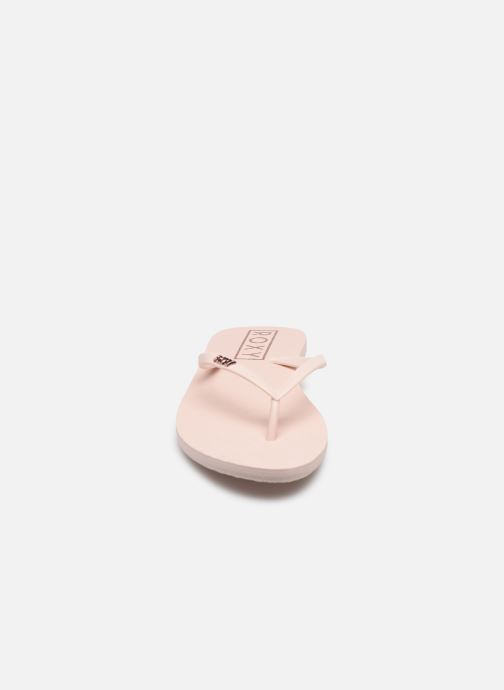 Tongs Roxy Viva Stamp II Rose vue portées chaussures