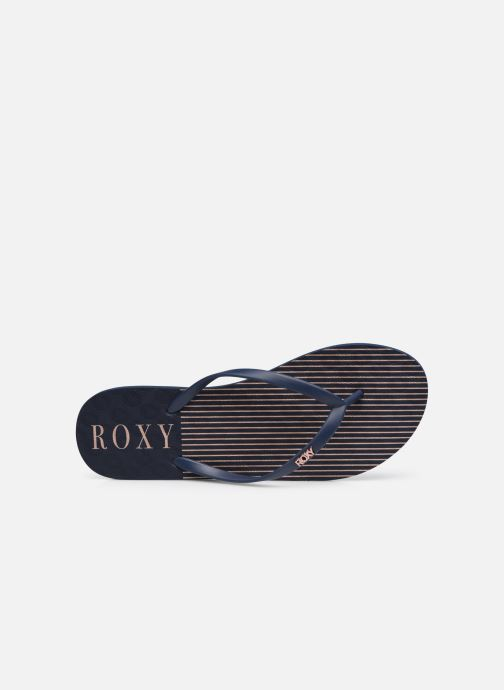 Slippers Roxy Viva Stamp II Blauw links