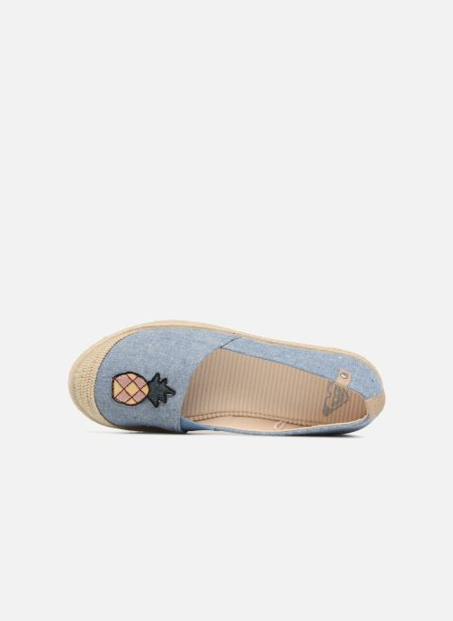 Espadrilles Roxy Flora II Blue view from the left