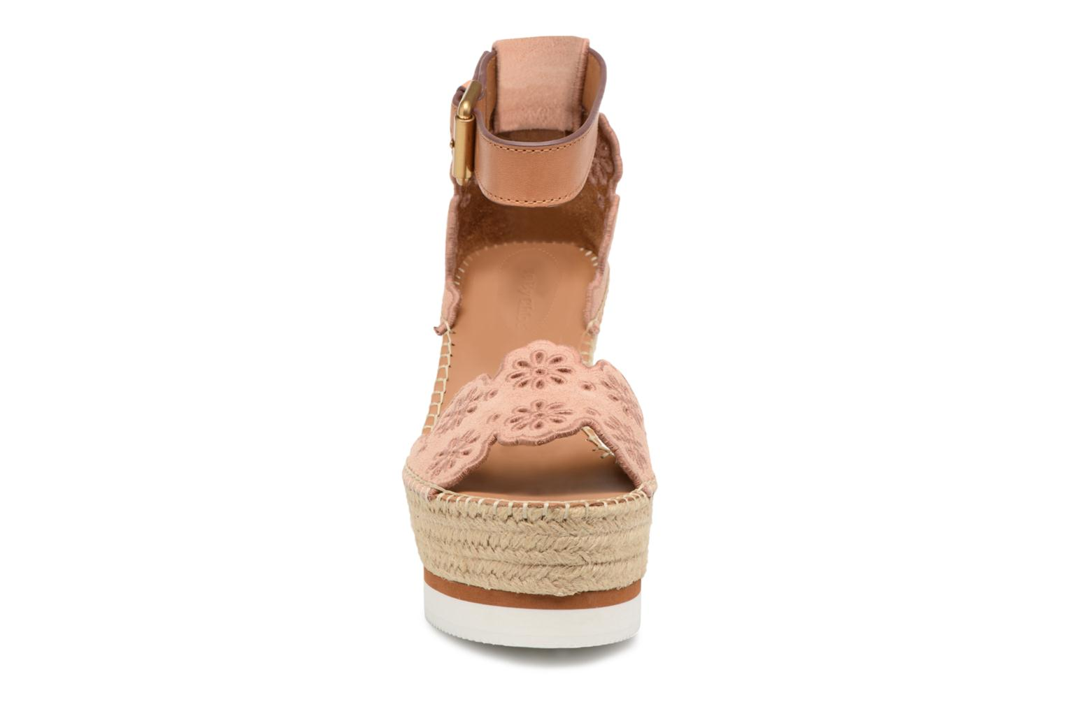 Espadrilles See by Chloé Glyn Rose vue portées chaussures