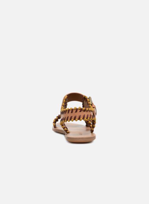 Sandales et nu-pieds See by Chloé Romy Marron vue droite