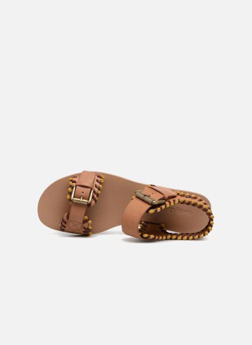 Sandales et nu-pieds See by Chloé Romy Marron vue gauche