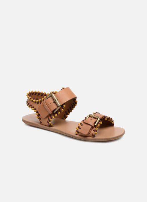 Sandaler See by Chloé Romy Brun detaljeret billede af skoene