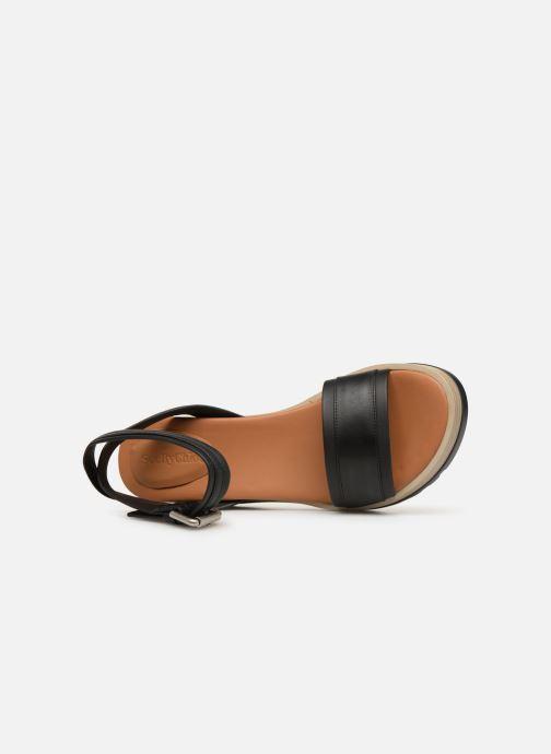 Sandalen See by Chloé Robin 2 Zwart links