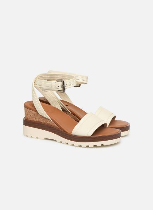 Sandales et nu-pieds See by Chloé Robin 2 Blanc vue 3/4
