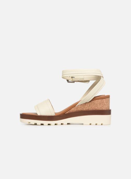 Sandales et nu-pieds See by Chloé Robin 2 Blanc vue face