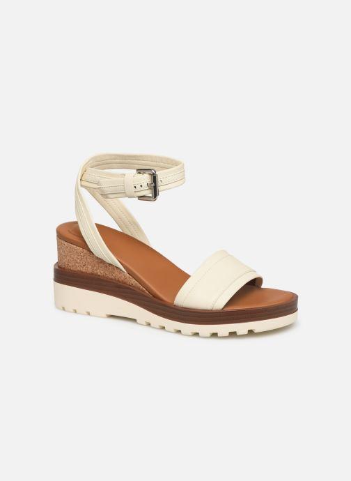 Sandales et nu-pieds See by Chloé Robin 2 Blanc vue détail/paire
