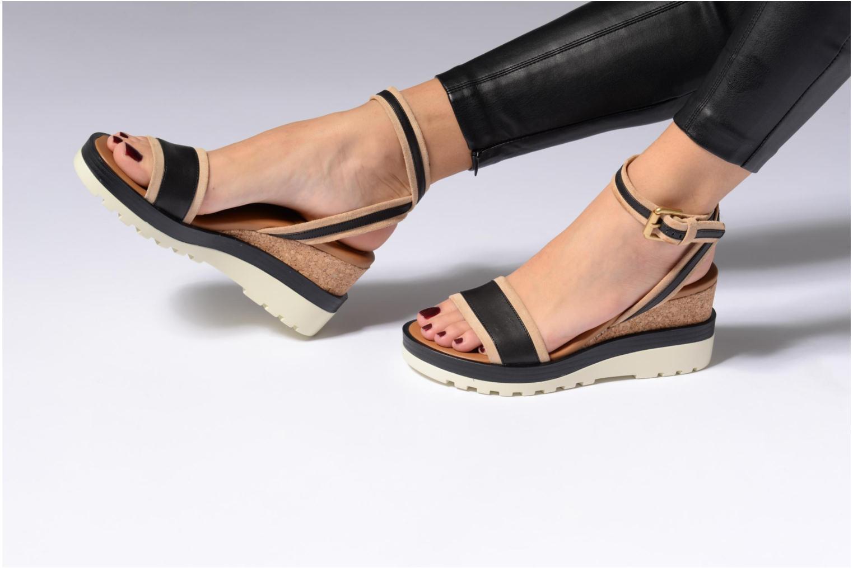 Sandales et nu-pieds See by Chloé Robin 2 Noir vue bas / vue portée sac