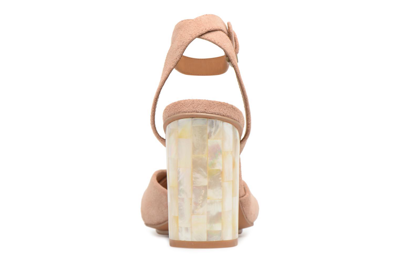 Sandales et nu-pieds See by Chloé Isida Marron vue droite