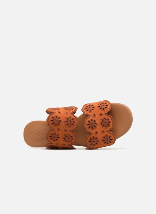 Mules et sabots See by Chloé Valentina Orange vue gauche