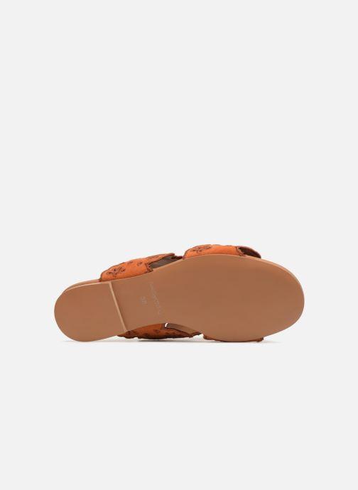 Mules et sabots See by Chloé Valentina Orange vue haut