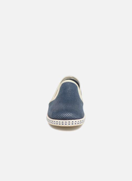 Espadrilles Conguitos Tecno Bleu vue portées chaussures