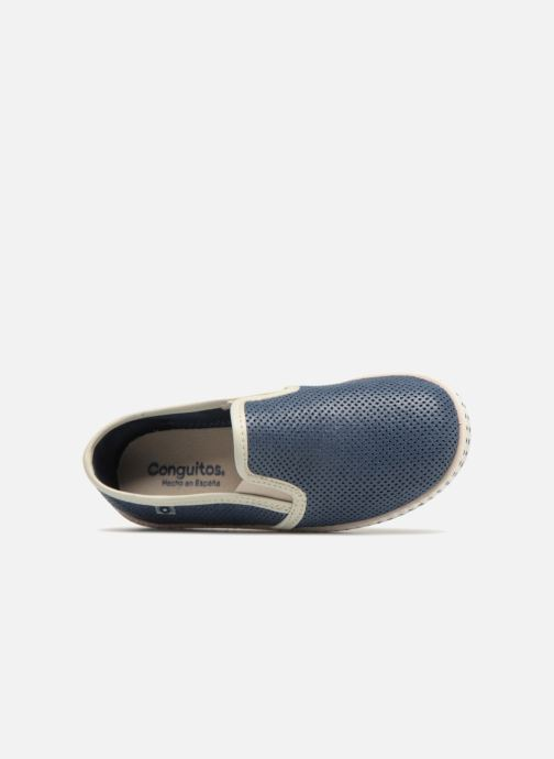 Espadrilles Conguitos Tecno Blue view from the left