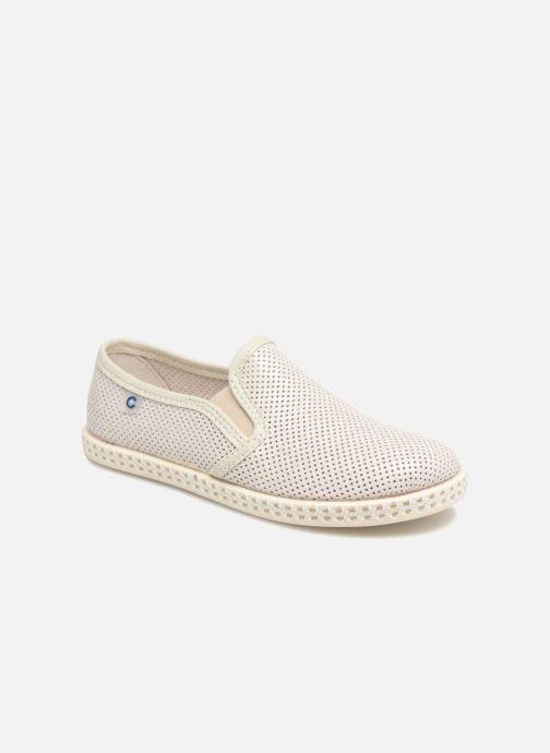 Espadrillos Conguitos Tecno Beige detaljeret billede af skoene