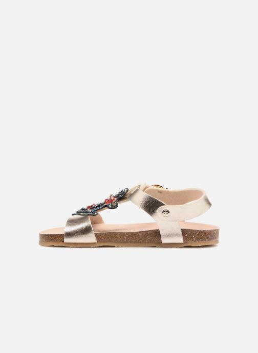 Sandales et nu-pieds Conguitos Angela Or et bronze vue face