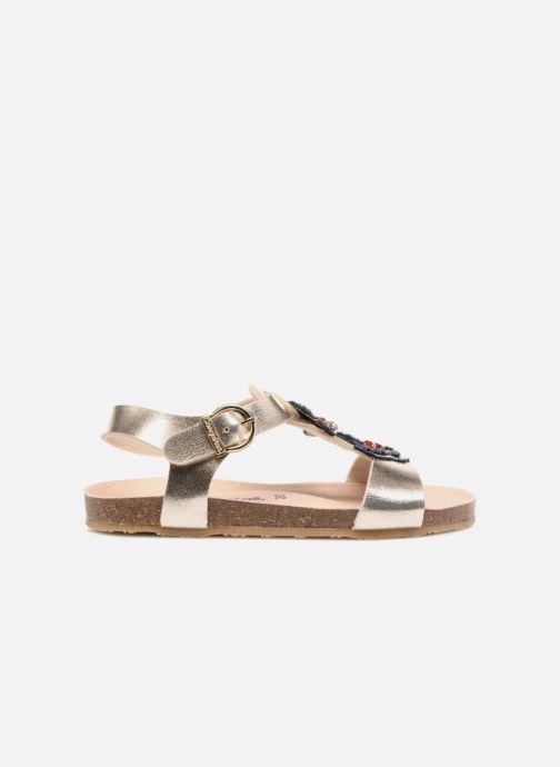 Sandales et nu-pieds Conguitos Angela Or et bronze vue derrière