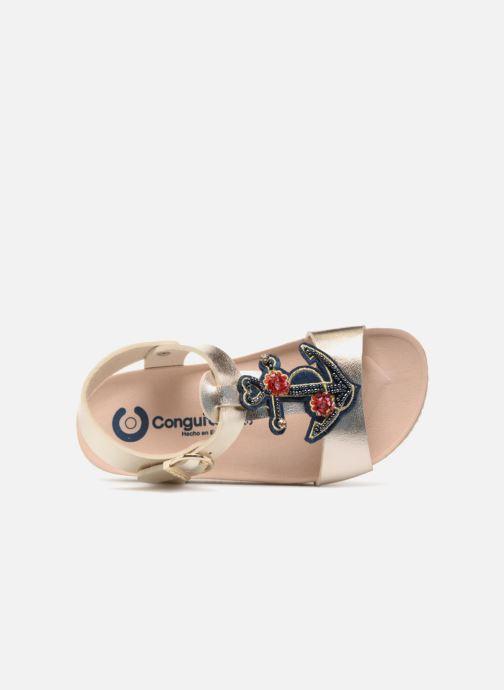 Sandales et nu-pieds Conguitos Angela Or et bronze vue gauche