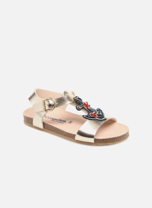 Sandales et nu-pieds Conguitos Angela Or et bronze vue détail/paire