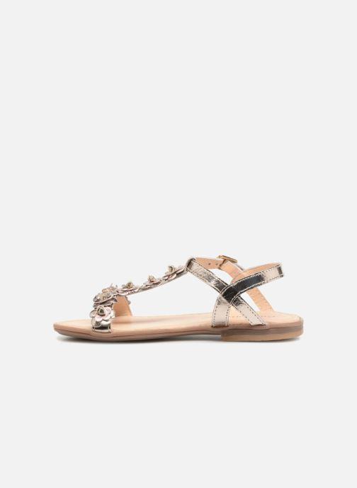 Sandales et nu-pieds Conguitos Noelia Or et bronze vue face