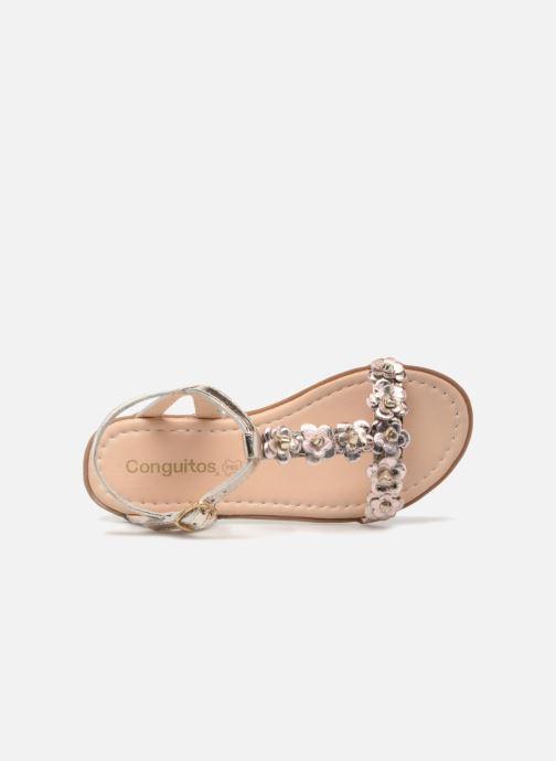 Sandales et nu-pieds Conguitos Noelia Or et bronze vue gauche