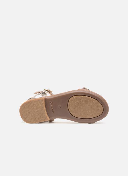 Sandales et nu-pieds Conguitos Noelia Or et bronze vue haut