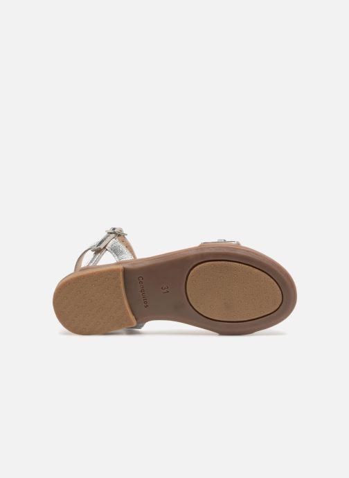 Sandales et nu-pieds Conguitos Esmeralda Argent vue haut