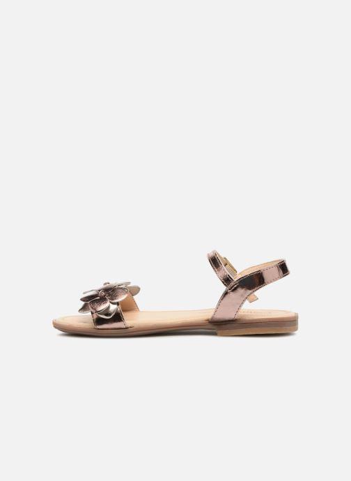 Sandales et nu-pieds Conguitos Carlota Or et bronze vue face